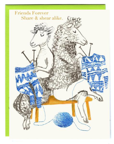 Friends Forever - Share & Shear Alike Card