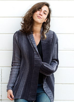 Urth - Monokrom Cardigan Kit (Fingering Weight) Pattern Included