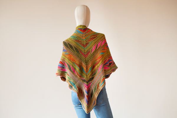 Butterfly Papillon Shawl Kit Uneek Self Striping