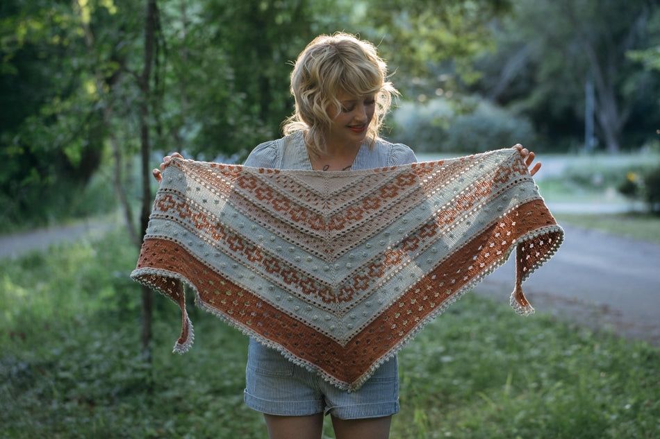 The Golden Hour Shawl