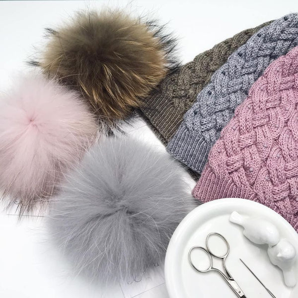 Alexandra Davidoff Chloe Cabled Hat Kit - Smooshy with Cashmere