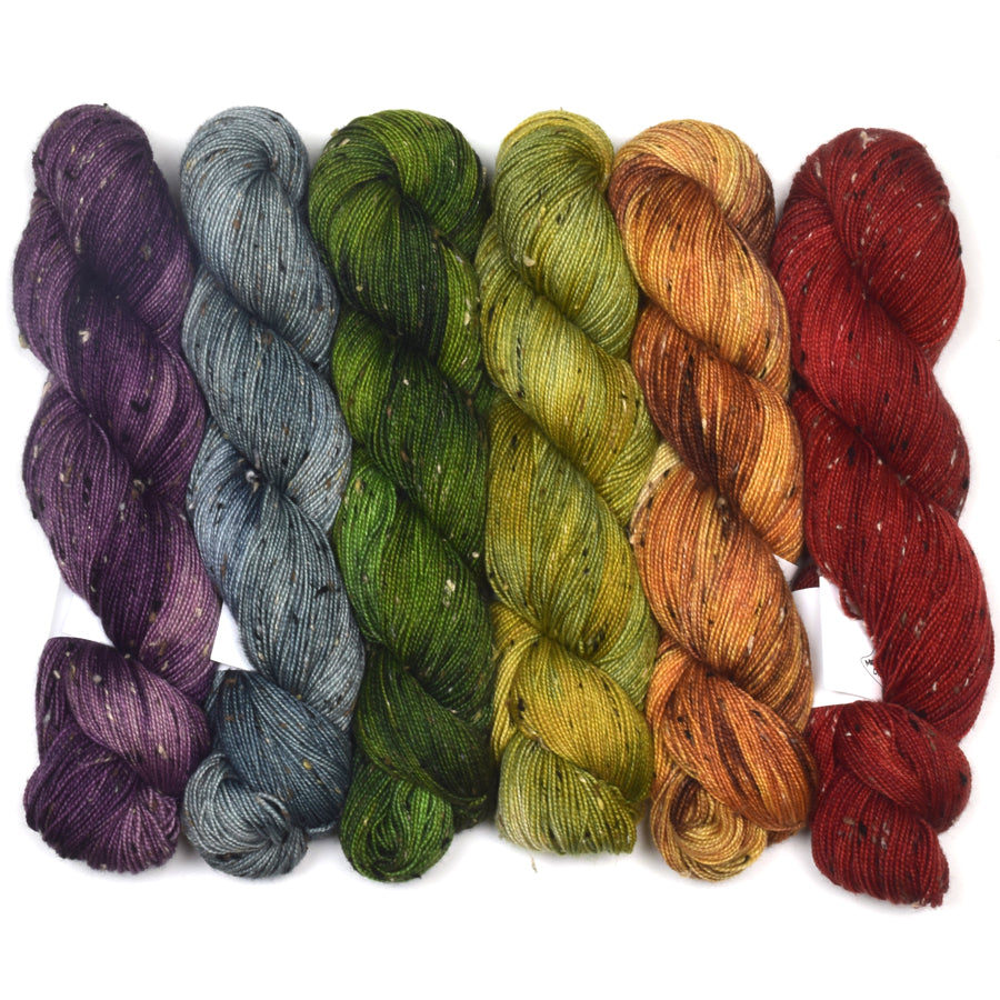 Donegal Cottage Tweed Glorious Gradient Set of 6 (What the Fade) - Forest Floor