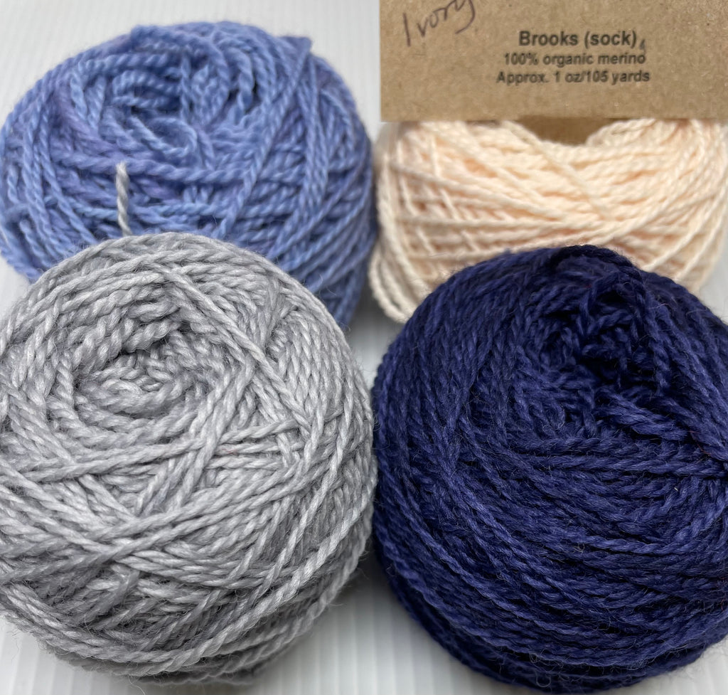 Gnutmeg ADVENTure Gnome MKAL Yarn Pack - Brooks - Blue and Silver