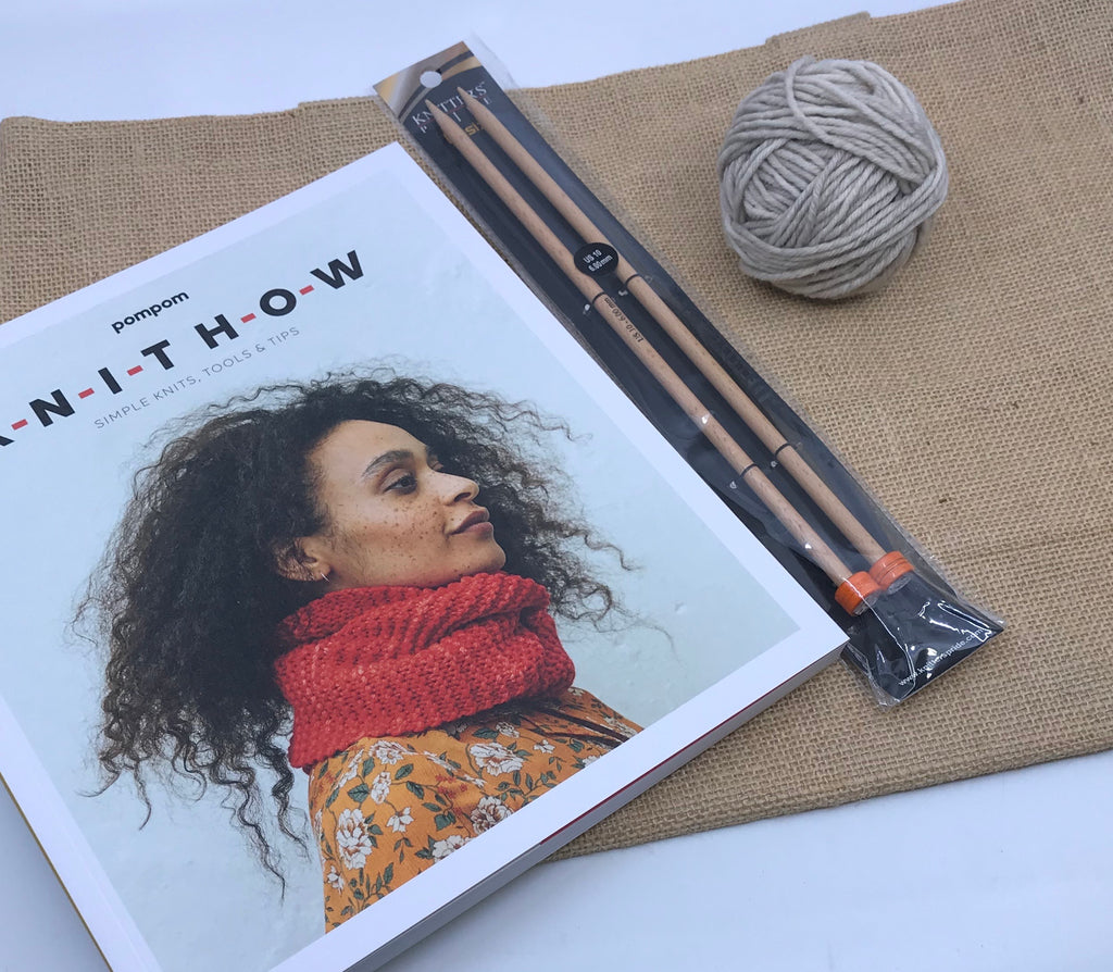 KNIT HOW Learn to Knit Totally Minimalist Starter Pack