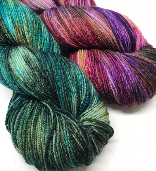 Delphinia Shawl Kit - Cross Creek Sock - Opium Den
