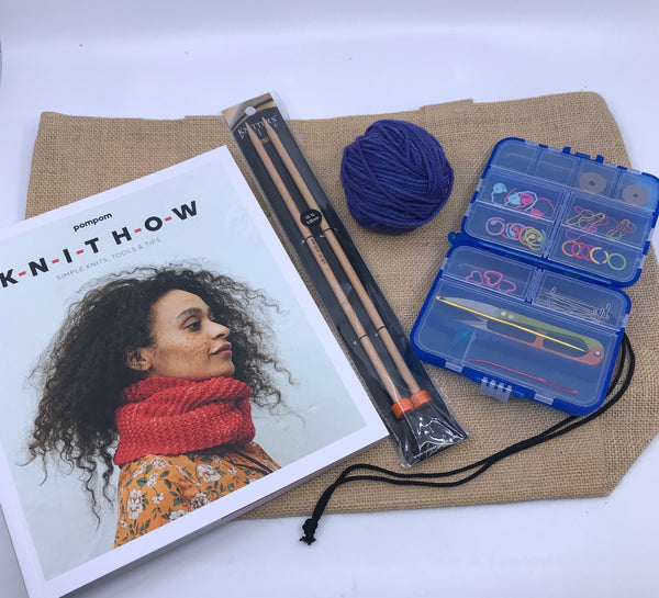 KNIT HOW Learn to Knit Mostly Minimalist Starter Pack