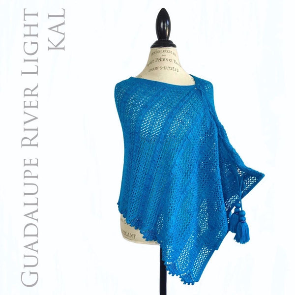 Guadalupe River Light Beaded Poncho KAL Kit - Cascade Heritage