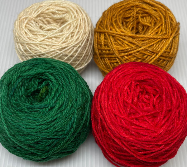 Gnutmeg ADVENTure Gnome MKAL Yarn Pack - Christmas Sampler