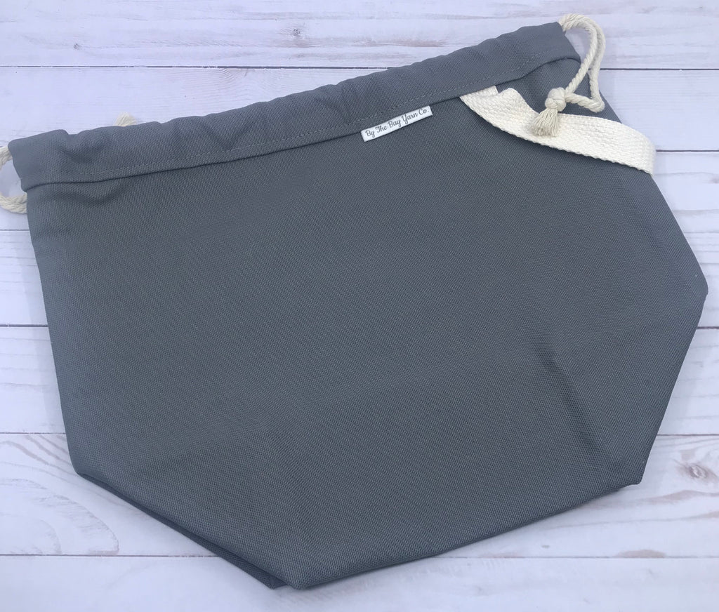 Canvas Project Bag - Charcoal