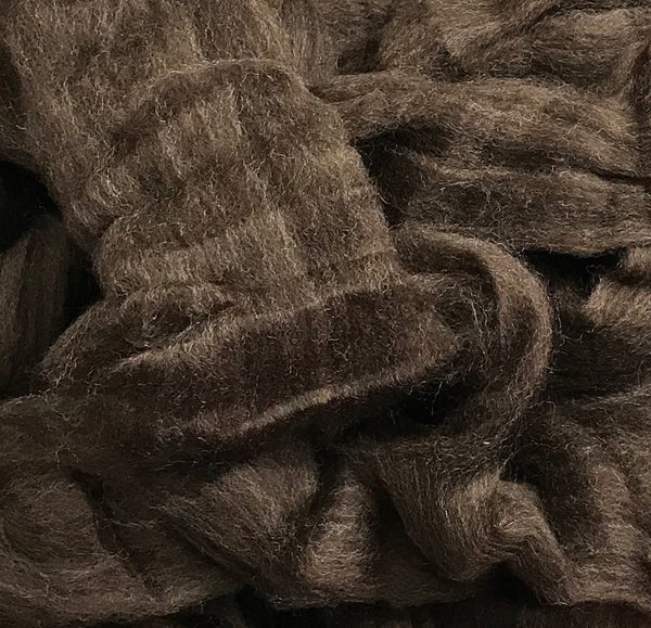 New Zealand 22 Micron Merino Sliver - Dark Natural (4 oz)