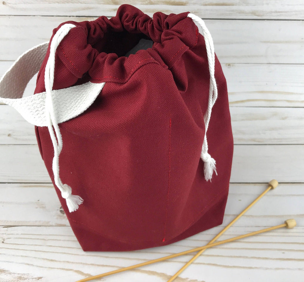 Canvas Project Bag - Maroon
