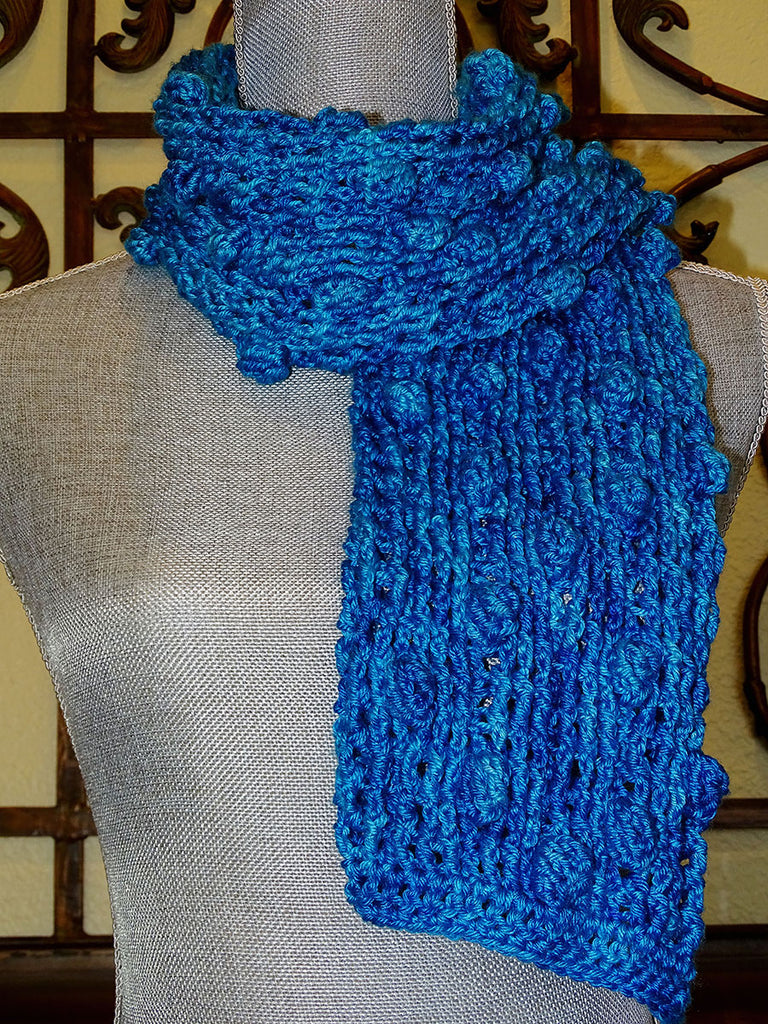 Popcorn and Post Stitch Crochet Scarf  February 17  1:00-3:00PM