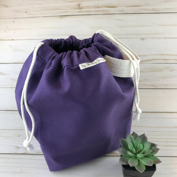 Canvas Project Bag - Purple