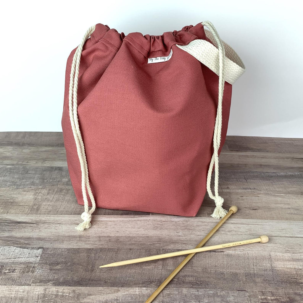 Canvas Project Bag - Salmon