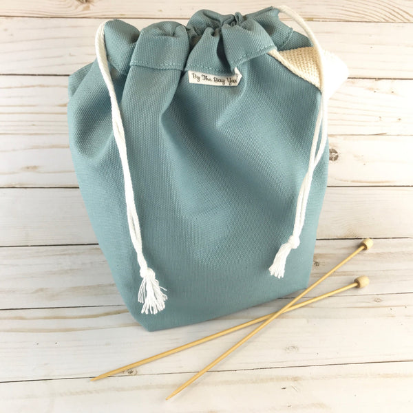 Canvas Project Bag - Slate