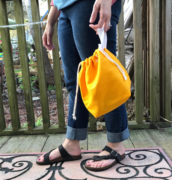 Canvas Project Bag - Yellow