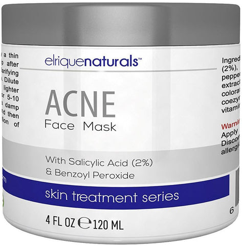 Acne Face Mask Deep Pore Cleansing Mask With Salicylic Acid And Benzoyl Peroxide - Elrique Naturals