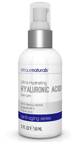 Hyaluronic Acid Serum 2oz Best hyaluronic acid serum Anti Aging Defense - Elrique Naturals