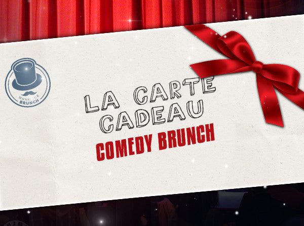 - Carte Cadeau - 2 Places pour le Comedy Brunch
