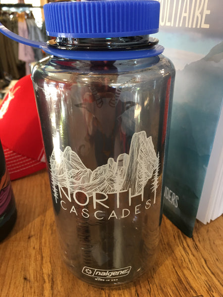 Nalgene with North Cascades and Goat Art