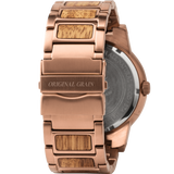 The Barrel - Zebrawood / RoseGold