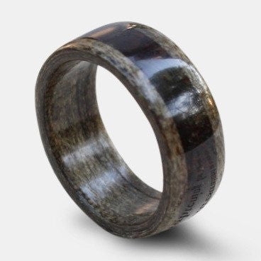 Black Cherry Wood w 1950's Coffee Ring