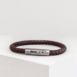 Braided Genuine Top Grain Leather Bracelet