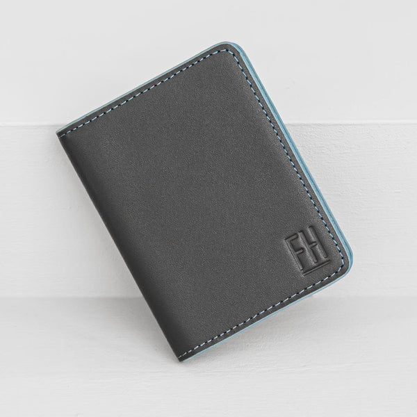 Slim RFID Bifold Wallet in Top Grain Leather