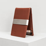 Money Clip Slim Wallet in Top Grain Leather