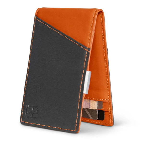 Slim RFID Money Clip Wallet in Top Grain Leather