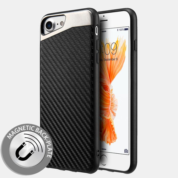 Apple iPhone Carbon Metallic Fusion Candy Case TPU With Black Carbon Fiber Finish