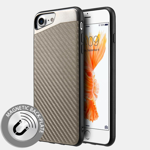 Apple iPhone Carbon Metallic Fusion Candy Case TPU With Grey Carbon Fiber Finish