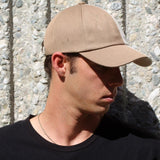 Khaki And Beige Two-Tone Hat