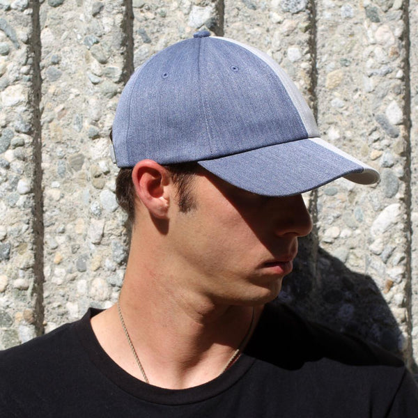 Jean And Light Gray Two-Tone Hat