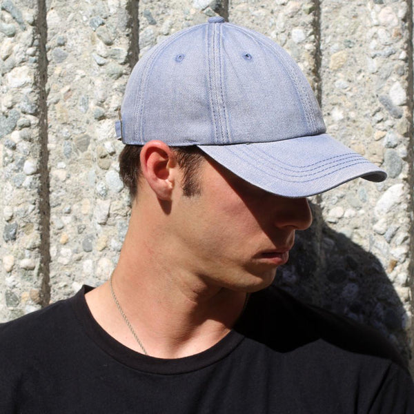 Blue Denim Washed Hat