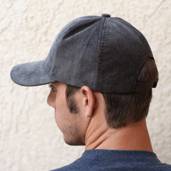Gray Corduroy Hat