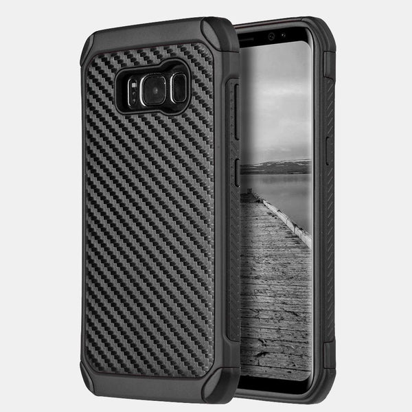 Samsung Galaxy S8 Tough Hybrid Black TPU + PC Carbon Fiber Finish Case