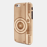 Camera Maple Wood iPhone Case