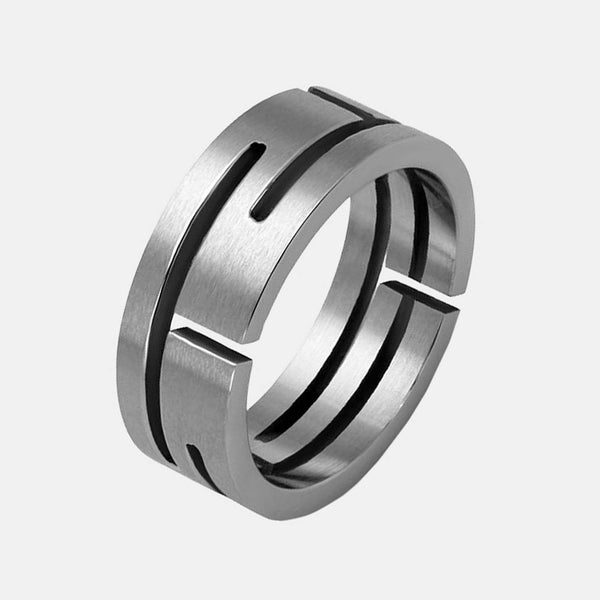 Steel Labyrinth Men's Stainless Steel Ring