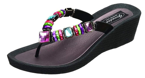 Grandco 26462E Rainbow Wedge Thong