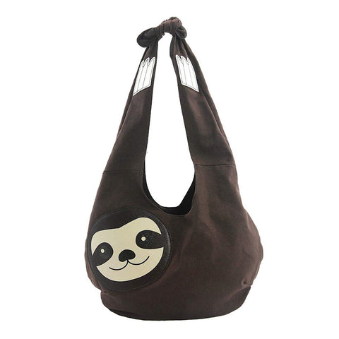 Sleepyville Critters Hang Loose Sloth Hobo Bag On Canvas