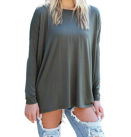 Piko Women's Famous Long Sleeve Bamboo Top Loose Fit