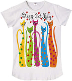 Crazy Cat Lady Sleep Shirt in Gift Bag