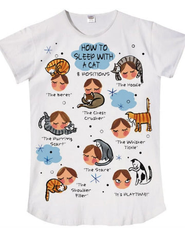 Nightshirt-Says-How-to-Sleep-with-a-Cat-B00B6AWXYE