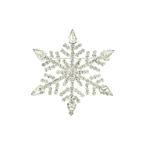 Crystal Snowflake Pin