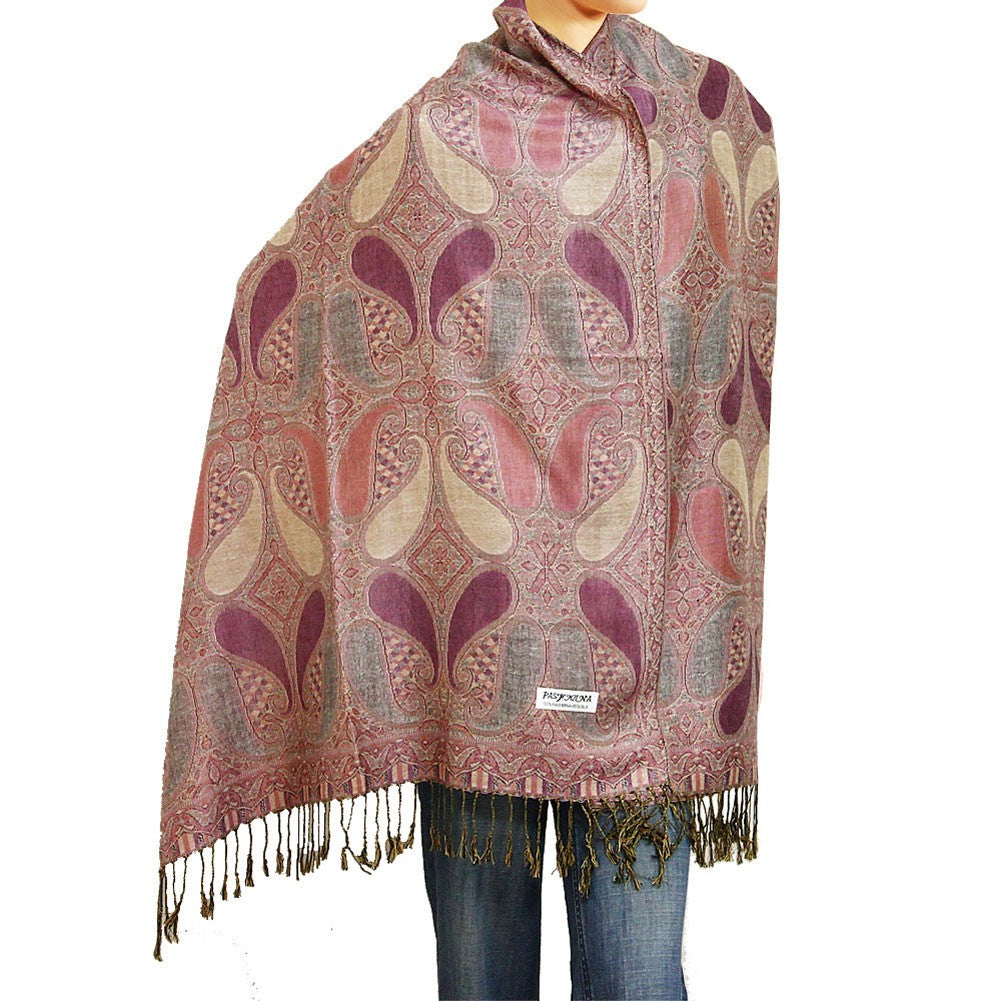 Paisley Pashmina Muted Rose