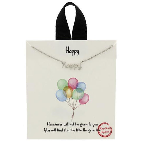 """Happy"" Necklace"