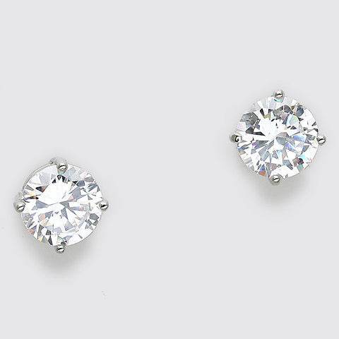 CZ Surgical Steel Post Stud Earrings CE1146-8MM