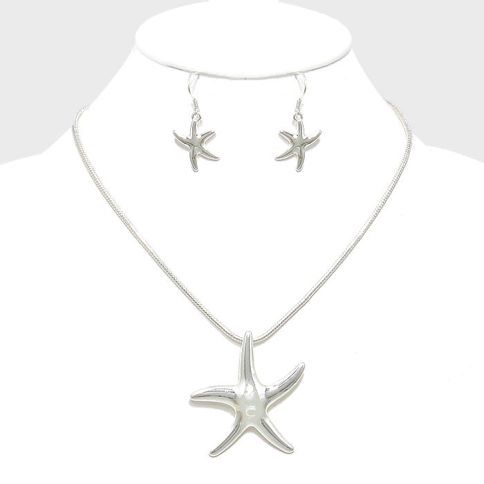 Starfish Pendant Necklace and Earrings DN2127