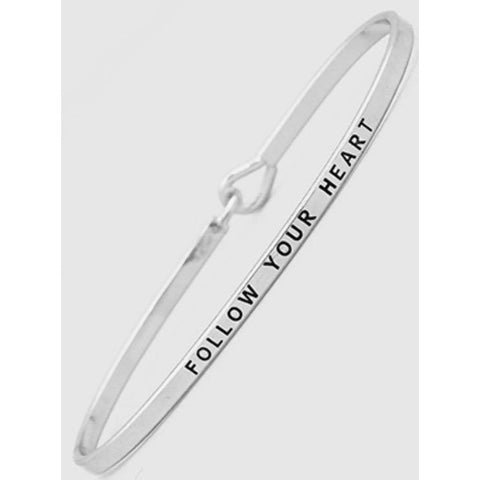 Follow Your Heart Thin Metal Hook Bracelet Best Seller